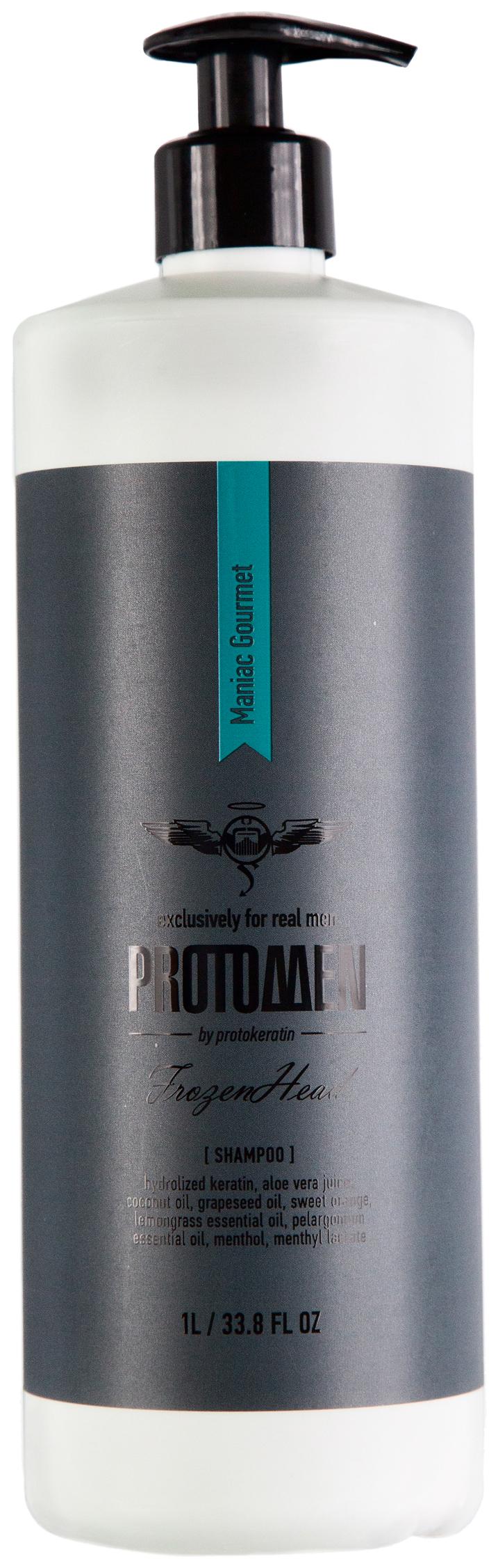 Купить Мужской крио-шампунь PROTOKERATIN для душа FROZENHEAD, 1000 мл
