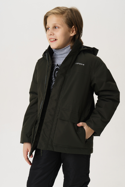 Купить 450007554IV, Куртка для мальчика Icepeak, цв.зеленый, р-р 140,