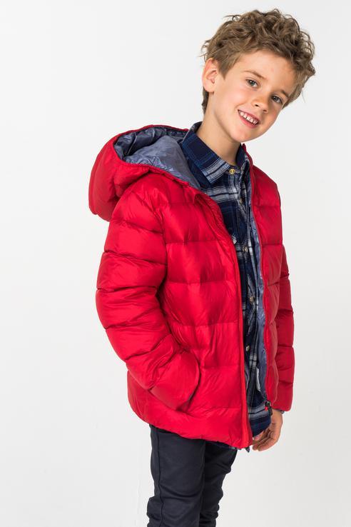 Купить 4.V792.00, Куртка для мальчика iDO, цв.красный, р-р 122, Куртки для мальчиков