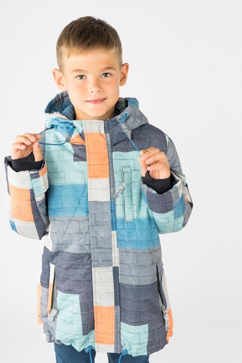 Купить 218BBBA41010122, Куртка для мальчика Button Blue, цв.мультиколор, р-р 128,