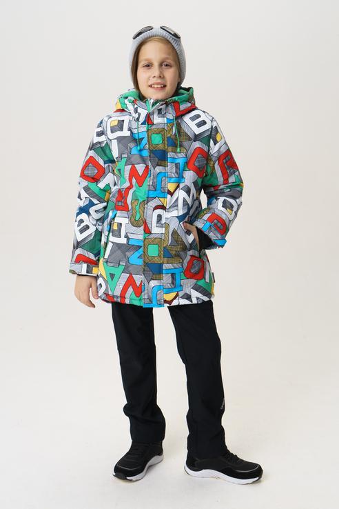 Куртка для мальчика Button Blue, цв.мультиколор, р-р 146 фото