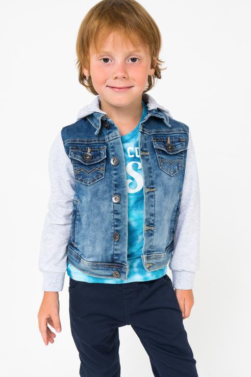 Купить 181MHAA005, Куртка для мальчика MEK, цв.синий, р-р 104, Куртки для мальчиков