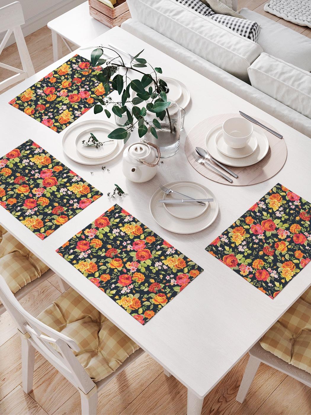Комплект салфеток для сервировки стола «Цветочный ковер» (32х46 см, 4 шт.)