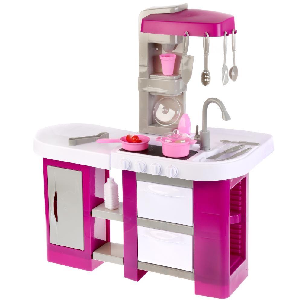 Детская кухня Kitchen с водой TALENTED CHEF 53 детали, фиолетовая 922-47
