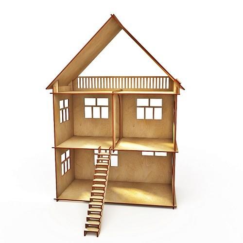 Купить Деревянный конструктор Хэппикон Кукольный домик без мебели, Деревянные конструкторы