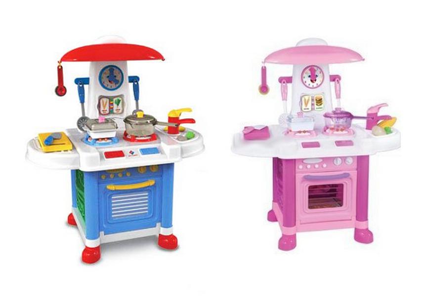 Купить Детсткая кухня Ocie со световыми и звуковыми эффектами, 12 предметов, Детская кухня