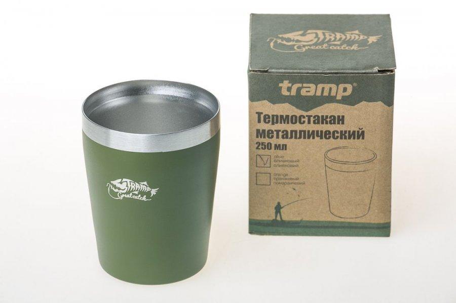 Термостакан Tramp 250мл олива TRC 101