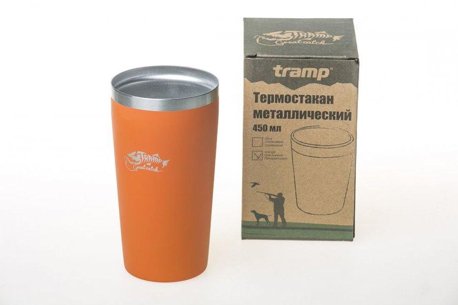 Термостакан Tramp 450мл оранжевый TRC 102