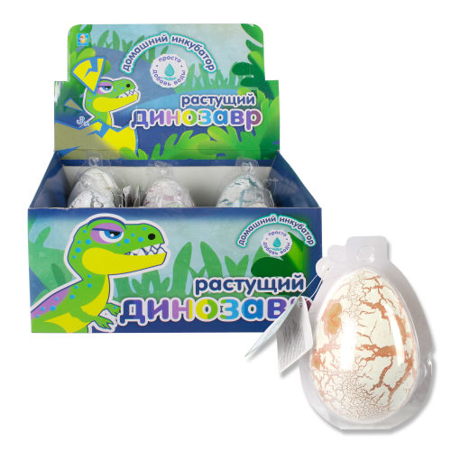 Купить Домашний инкубатор 1 TOY Мега-яйцо с растущим динозавром 10 см, в ассортименте,