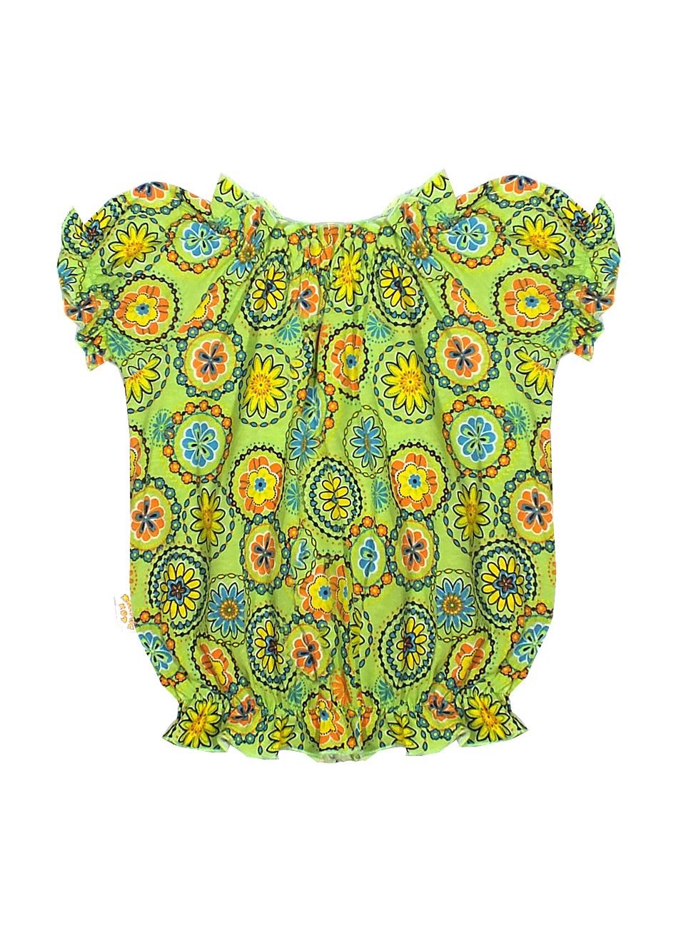Топ для девочек Желтый кот 278к зеленый-104
