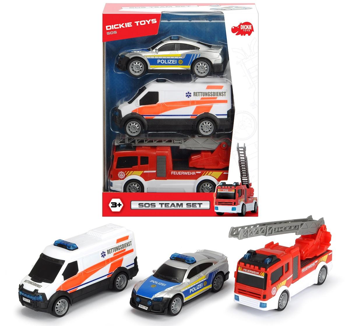 Купить Игровой набор Dickie Команда спасения SOS, 13-15 см, Dickie Toys, Спецслужбы
