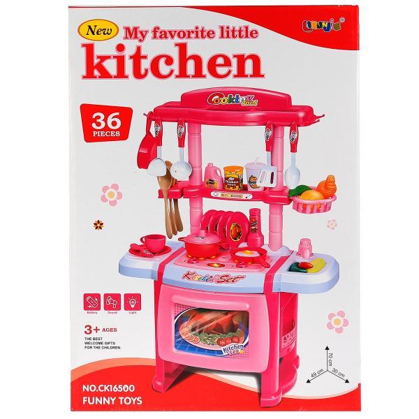 Купить Детская кухня Shantou Gepai B1549206 со световыми и звуковыми эффектами