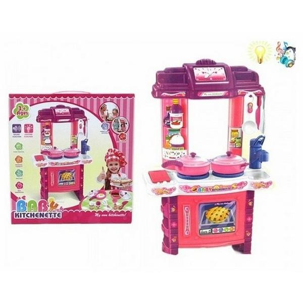 Купить Детская кухня Shantou Gepai B1325741 с аксессуарами, со световыми и звуковыми эффектами