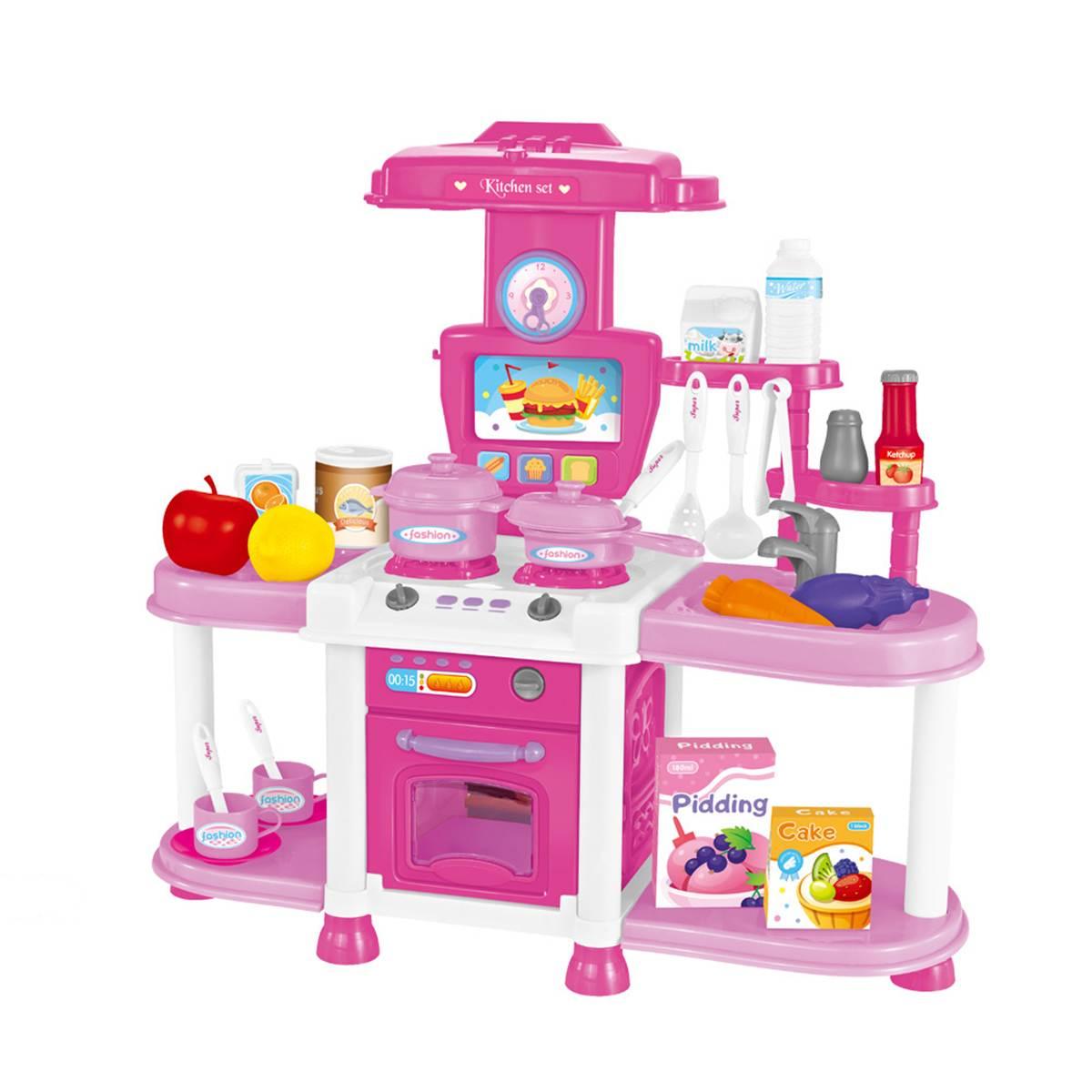 Купить Детская кухня Shantou Gepai 1901U241 с аксессуарами, со световыми и звуковыми эффектами