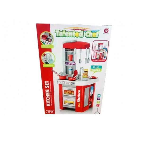 Купить Детская кухня Shantou Gepai B1801933 с аксессуарами, со световыми и звуковыми эффектами