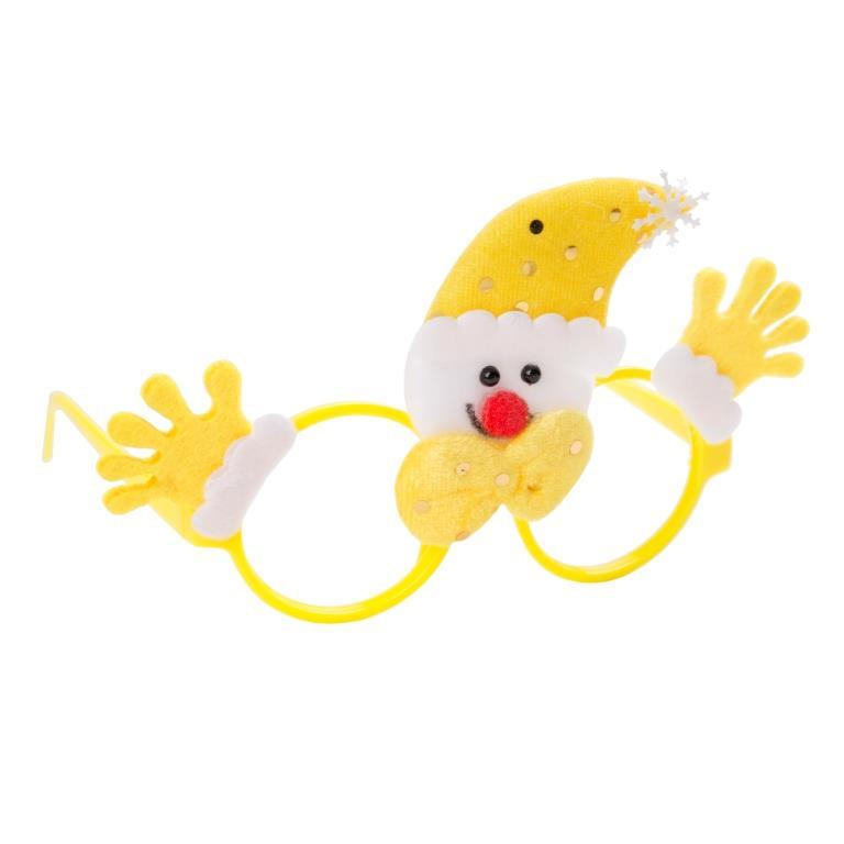 Ободок карнавальный Желтый Снеговик, 19х12х3,5 см, полипропилен, нетканый материал Феникс-Презент
