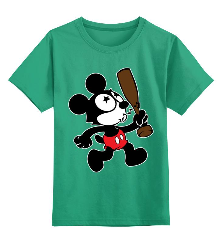 Детская футболка Printio Мышка цв.зеленый р.140 0000003027941 по цене 990