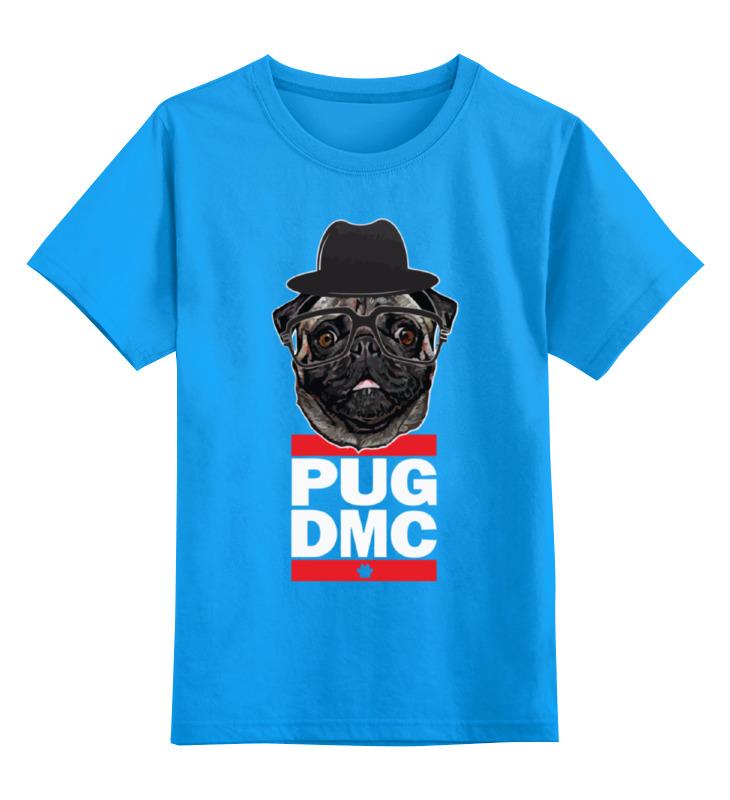 Купить 0000000634541, Детская футболка классическая Printio Pug x run dmc, р. 128,