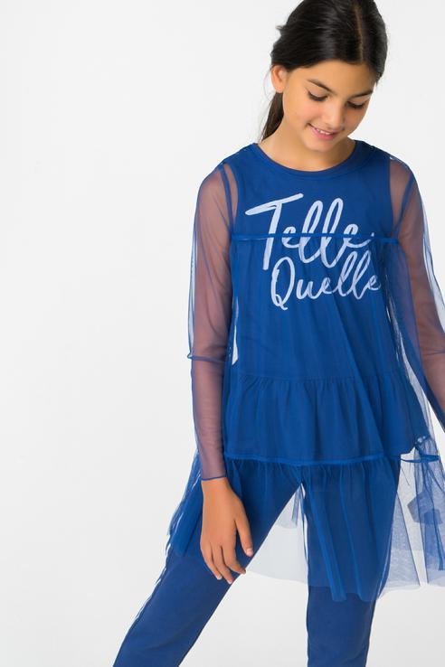 Комплект майка и туника для девочки Gulliver, цв.синий, р-р 164