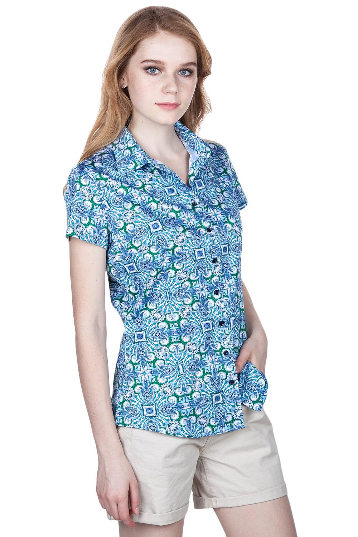 Рубашка женская DLF DG000000778 голубая S.
