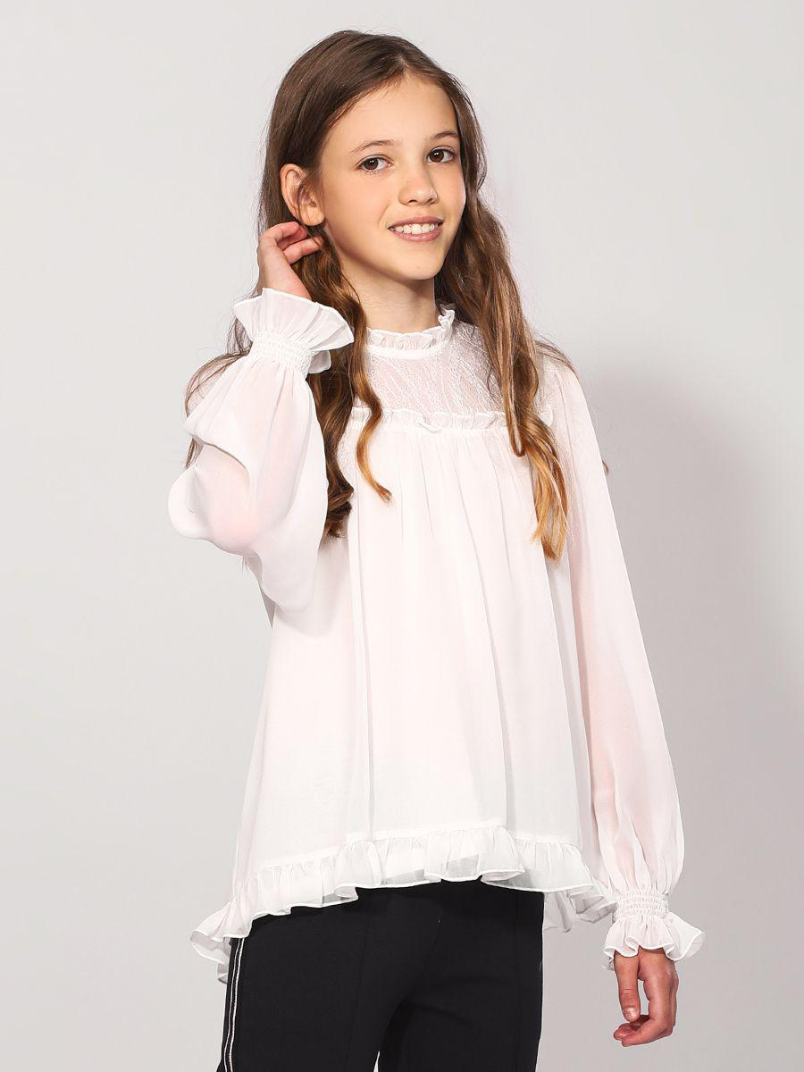 Купить 29503-455-9, Блуза для девочек Noble People цв. белый р.158,