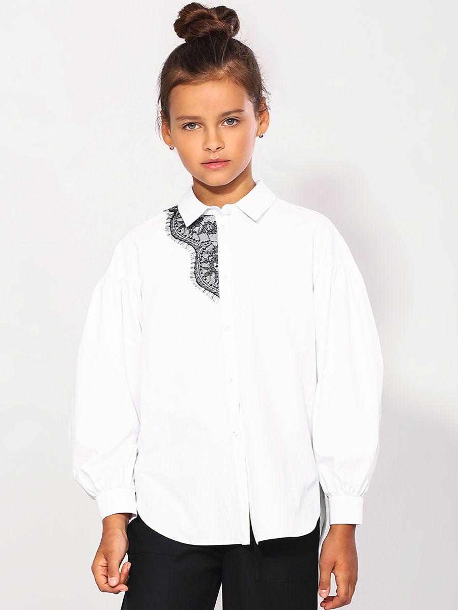 Купить 29503-462-5, Блуза для девочек Noble People цв. белый р.152,