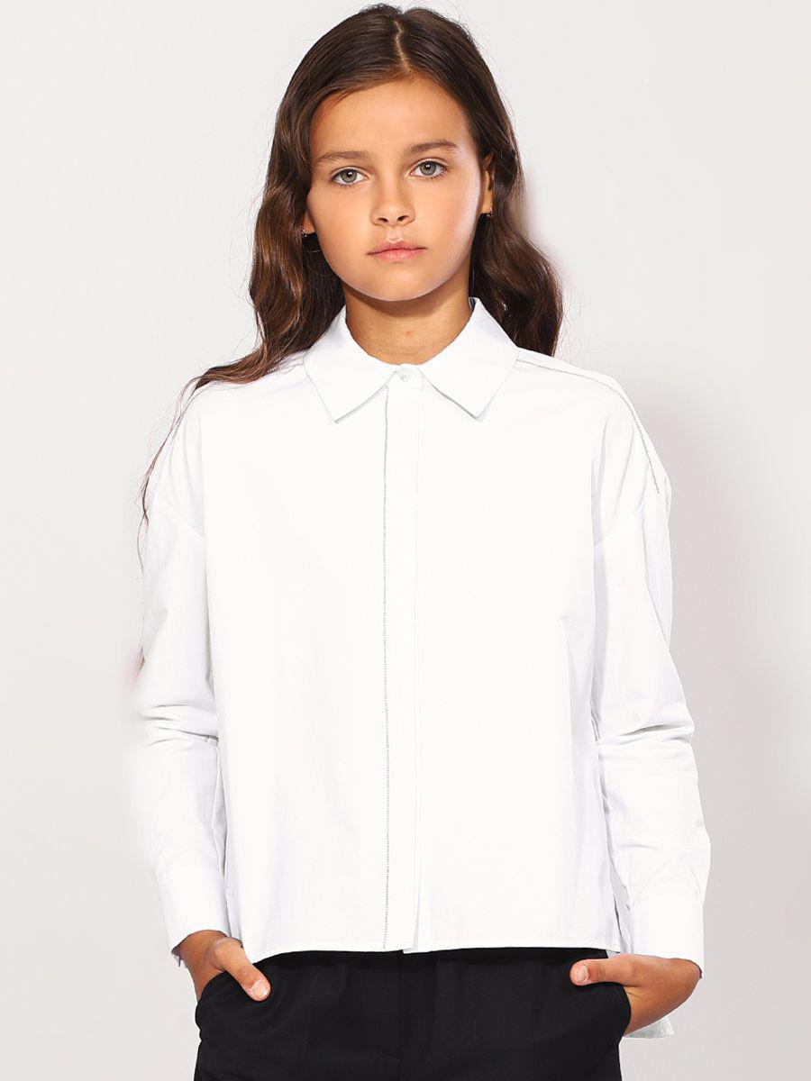 Купить 29503-478-5, Блуза для девочек Noble People цв. белый р.140,