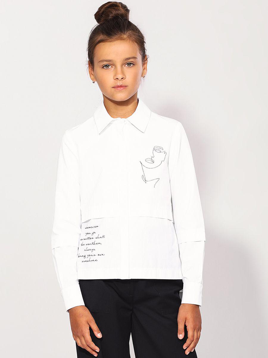 Купить 29503-481-5, Блуза для девочек Noble People цв. белый р.122,