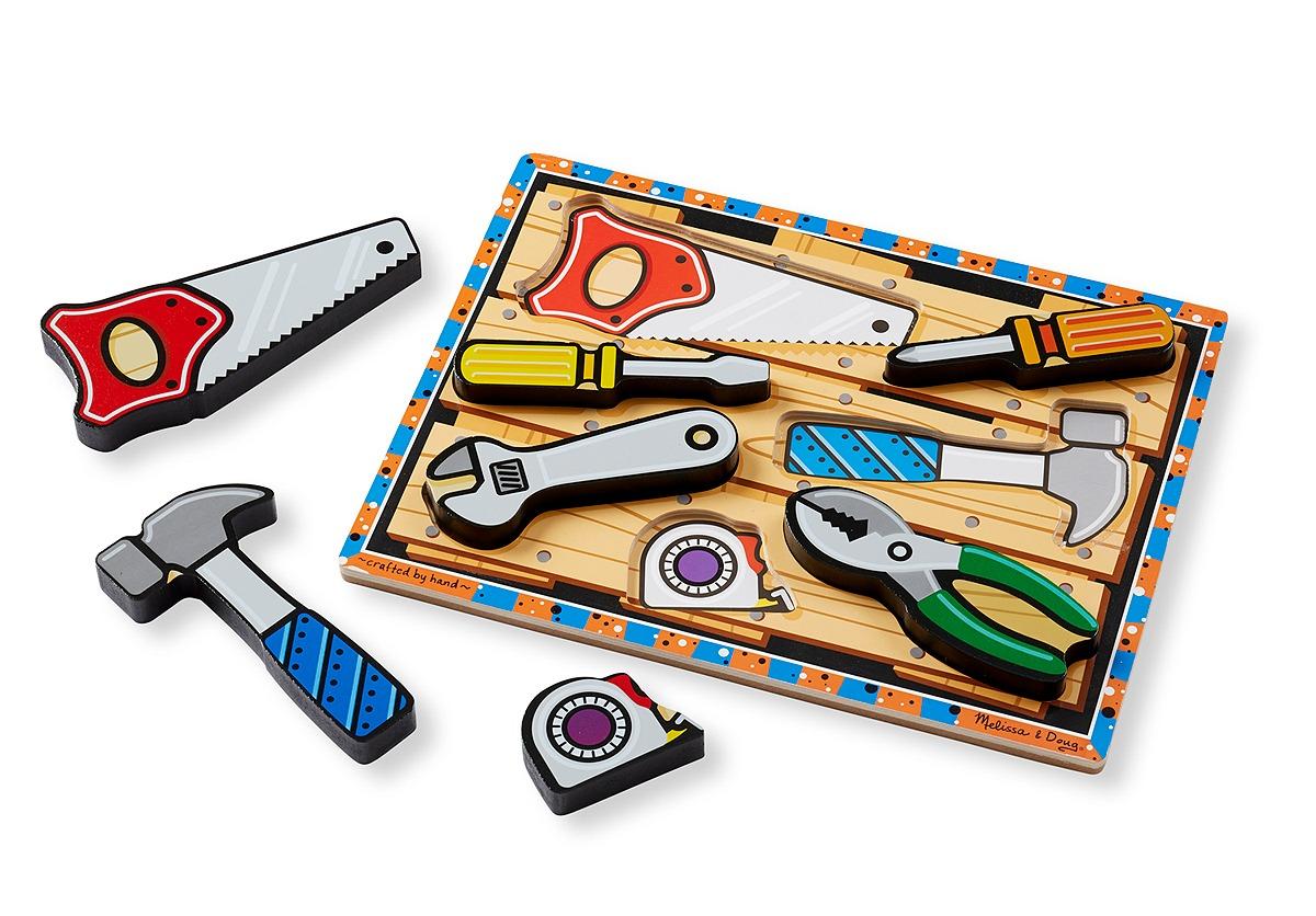 Купить Melissa&Doug Мои первые пазлы – Инструменты, 7 объемных элементов, Melissa & Doug,