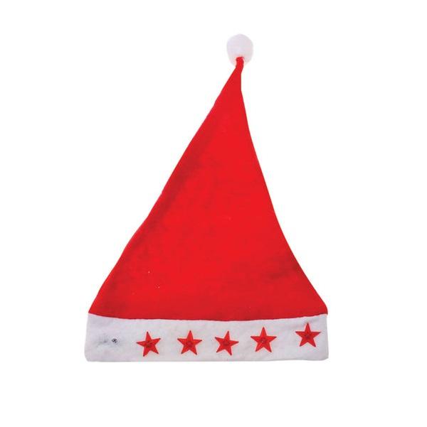 Колпак новогодний, светодиодная подсветка, 28х38 см, красно-белый Феникс-Презент
