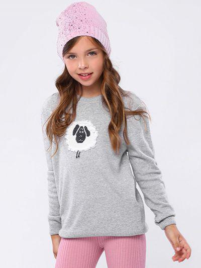 Джемпер для девочек Noble People цв. серый
