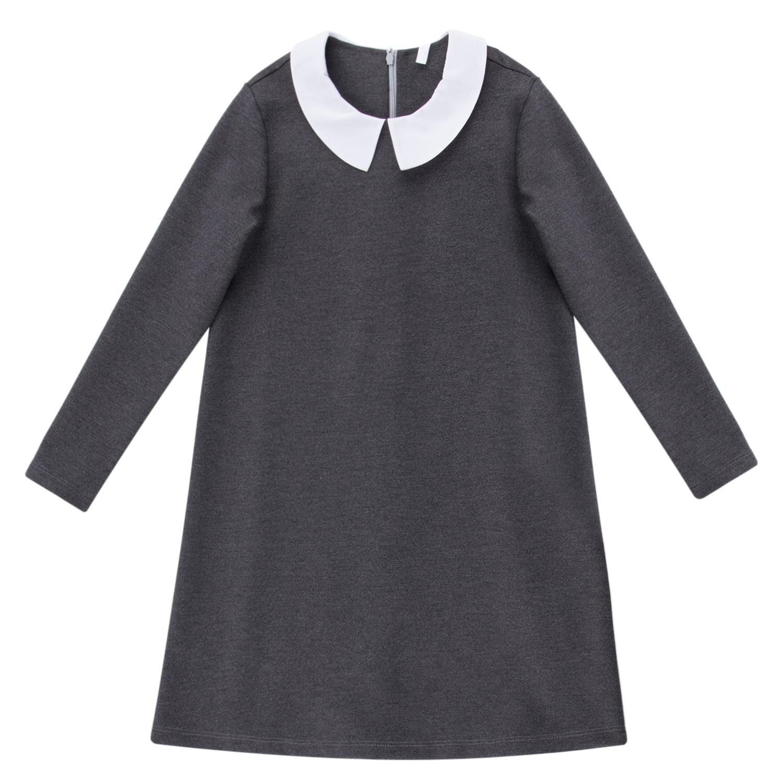 Купить ЛКЗ22212316-ДС28, Платье для детей Leader Kids ЛКЗ22212316140дс28 серый 140,