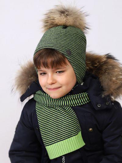 Шарф для мальчиков Noble People цв. зеленый