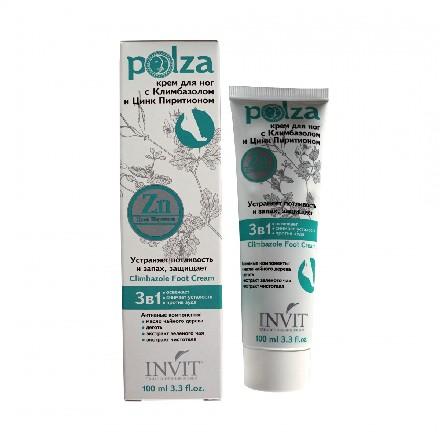 Купить Крем для ног Climbazole Foot Cream, серии POLZA 100 мл, Invit