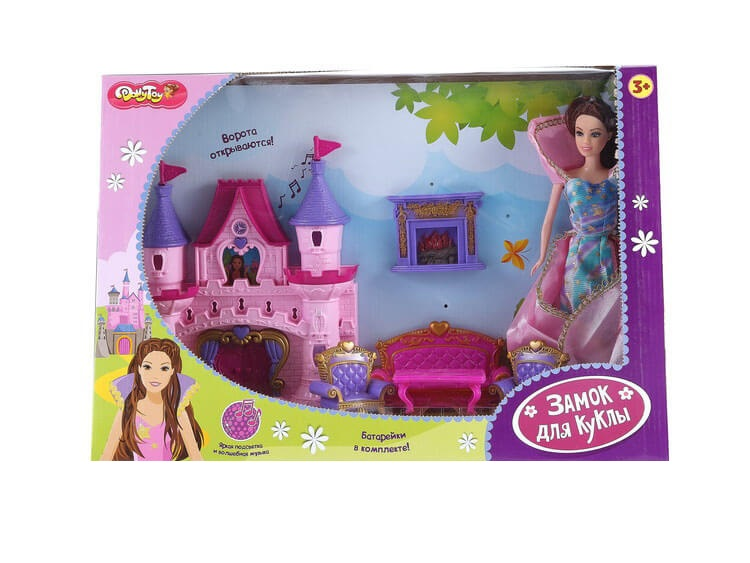 Купить Dolly Toy Замок для куклы Сказочная история 46х12х31, 5 см, свет, звук, кукла 27 см,