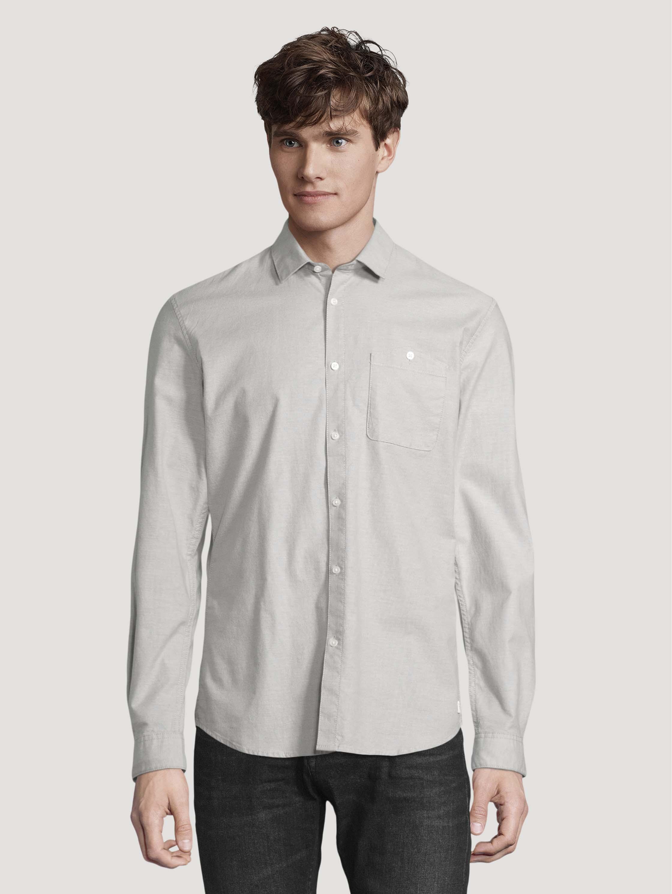 Рубашка мужская TOM TAILOR 1026876 серая M