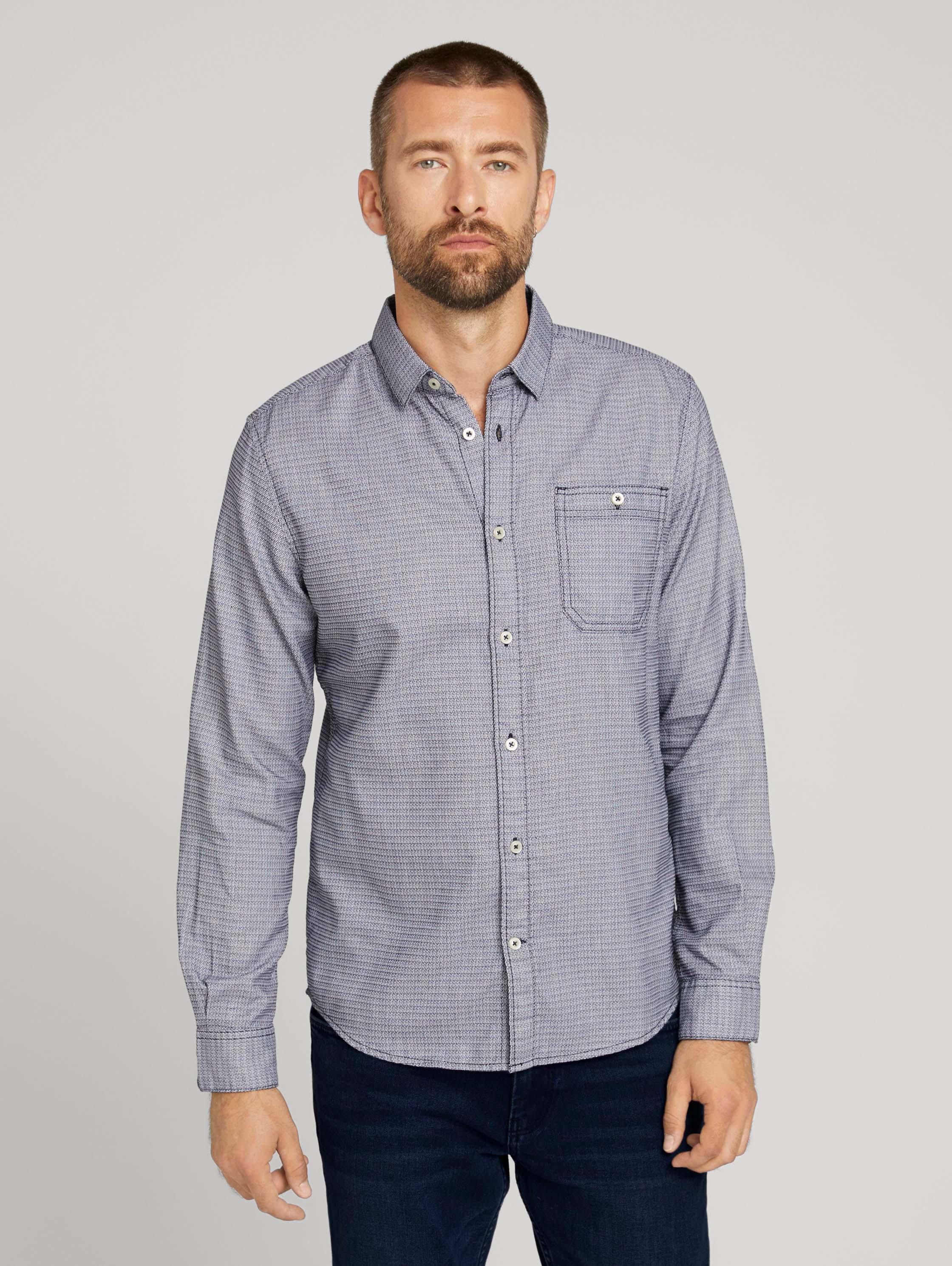 Рубашка мужская TOM TAILOR 1028410 синяя M
