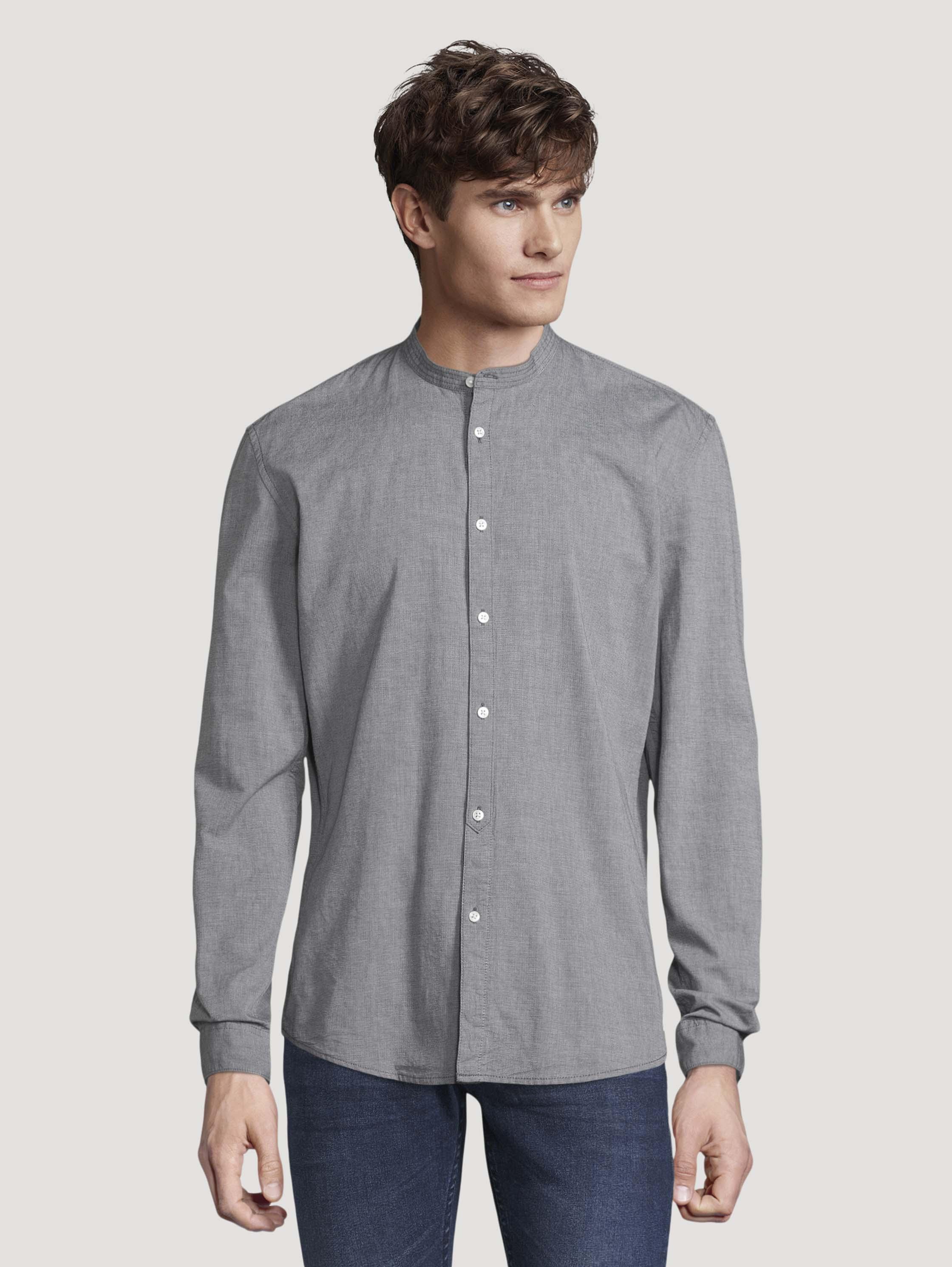 Рубашка мужская TOM TAILOR 1026879 серая S