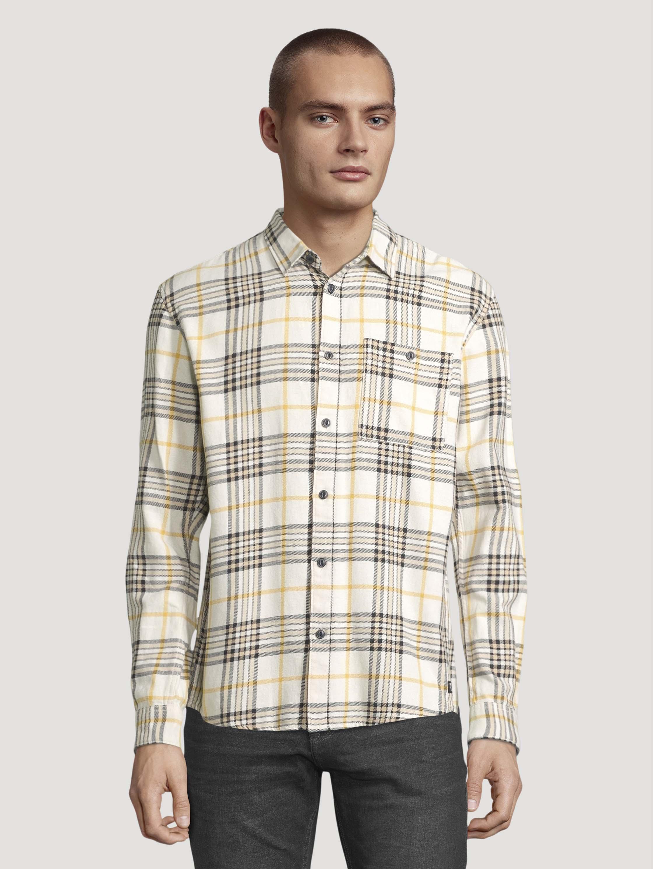 Рубашка мужская TOM TAILOR 1026882 бежевая L