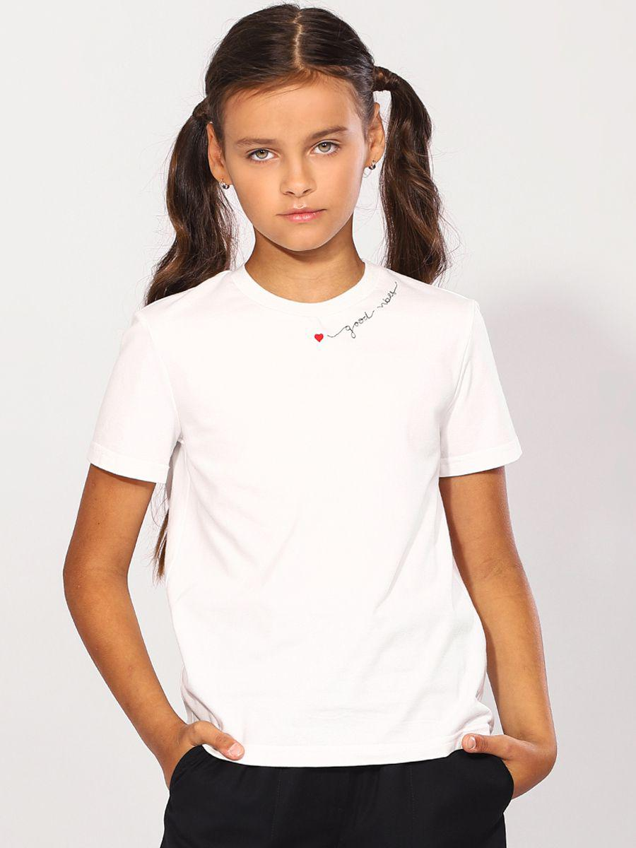 Купить 29516-242-9, Футболка для девочек Noble People цв. белый р.158,