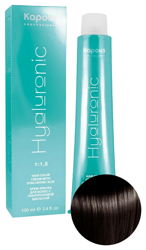 Купить Крем-краска для волос Kapous Hyaluronic 4.757