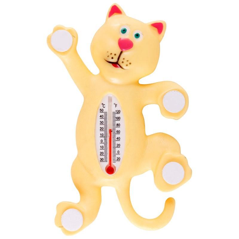 Термометр оконный на липучках КОТИК (Размер: 17х10
