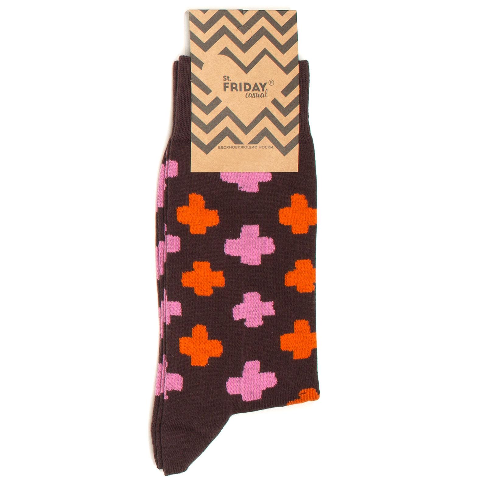 Носки унисекс St. Friday Casual_Plus коричневые 42-46