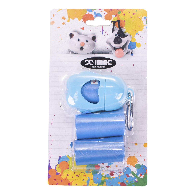 Контейнер для пакетов IMAC синий, 3 рулонов по 20 шт- обзор, преимущества, отзывы. Заказать товар для животных за 267 руб. Бренд IMAC