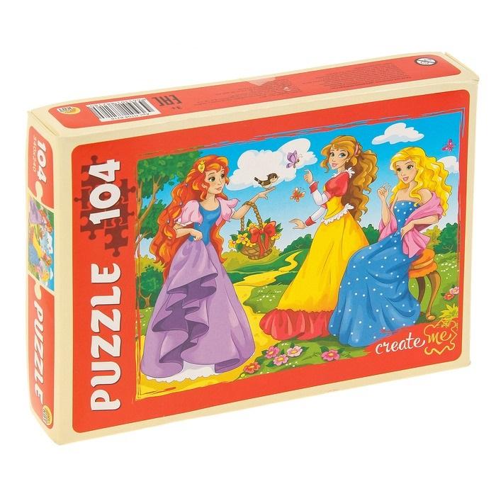 Купить Пазлы Дружные принцессы, 104 элемента, Рыжий кот,