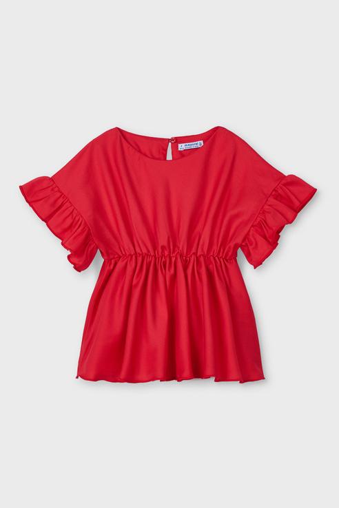 Купить 3194/21, Блузка для девочек Mayoral цв. красный р-р. 116,