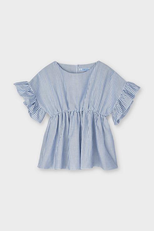 Купить 3194/21, Блузка для девочек Mayoral цв. синий р-р. 116,