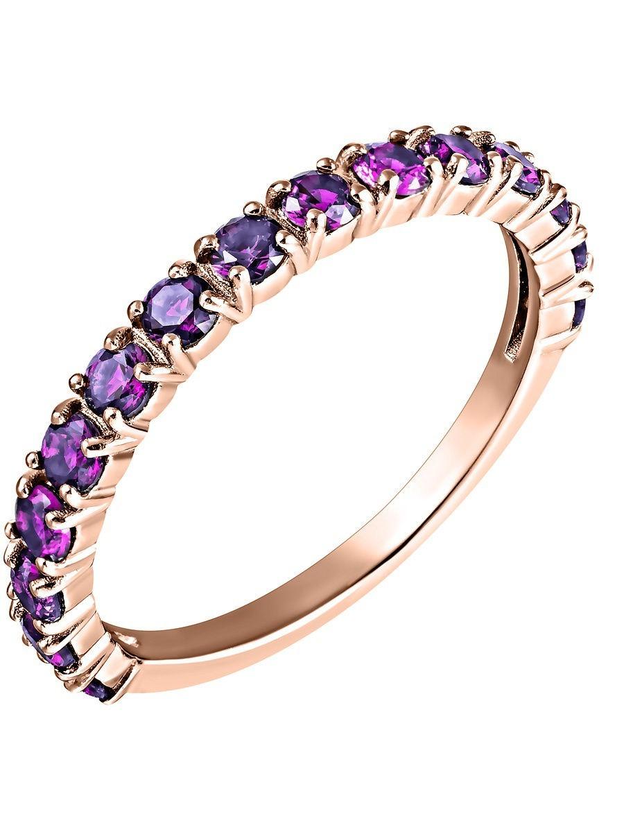Кольцо женское SamoroDki Jewelry 1-04-006-13з из серебра аметист, р. 19