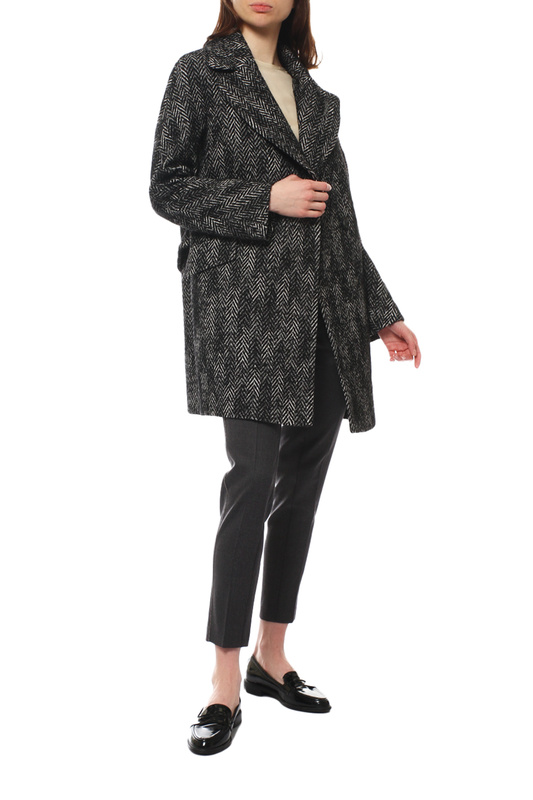 Пальто женское Paradox Л-385 ТВИД-ТМ-0012 черное 42-170