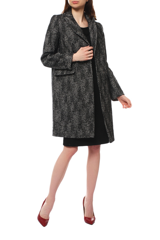 Пальто женское Paradox Л-396 ТВИД-ТМ-0012 черное 48-170